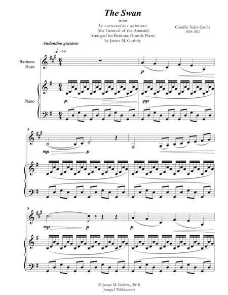 Saint-Saens: The Swan for Baritone Horn & Piano