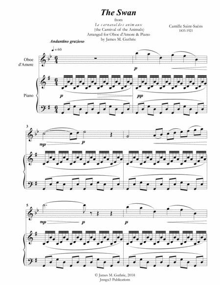 Saint-Saens: The Swan for Oboe d'Amore & Piano