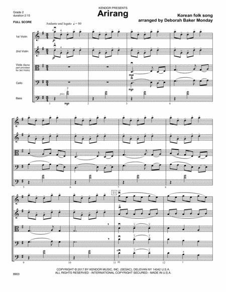 Arirang - Full Score