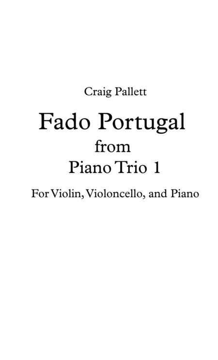 Fado Portugal - For Piano Trio - Score & Parts