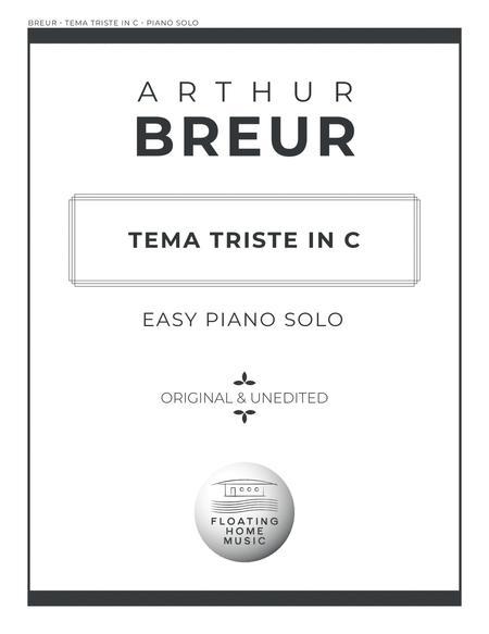 Tema Triste in C - Easy Piano Solo