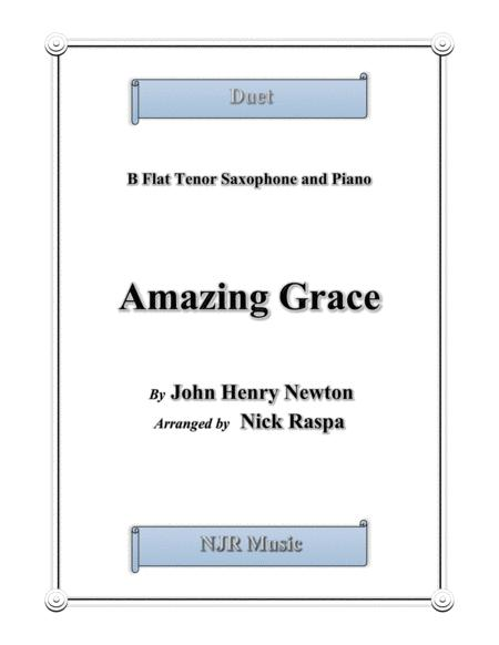 Amazing Grace - Duet - Bb Tenor Sax and Piano