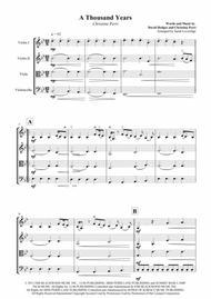 A Thousand Years - Christina Perri - String Quartet