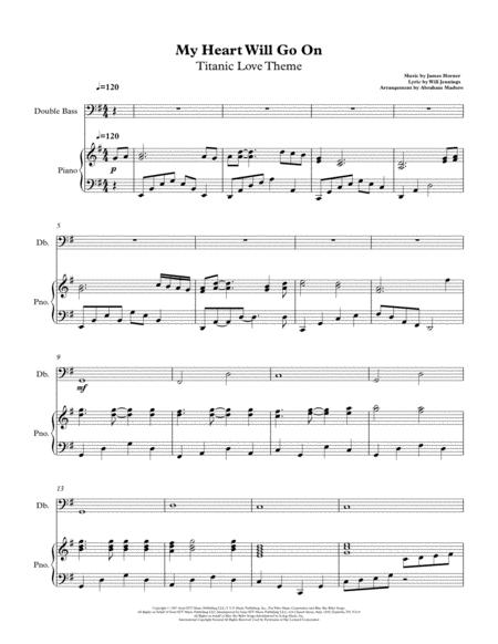 My Heart Will Go On (Love Theme from Titanic) Double Bass and Piano Accompaniment