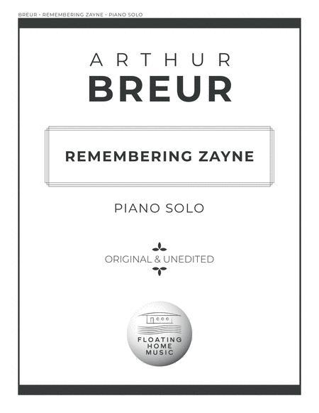 Remembering Zayne - Piano Solo