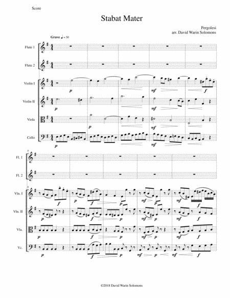 Stabat Mater for 2 flutes and string quartet