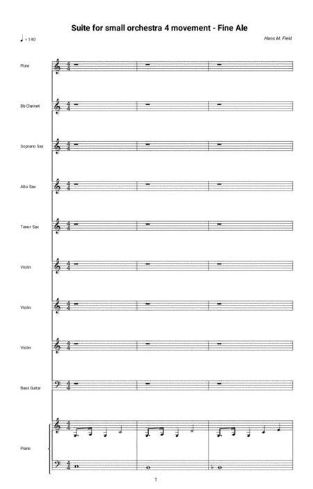 Suite for small orchestra - Fine Ale (Full Score)