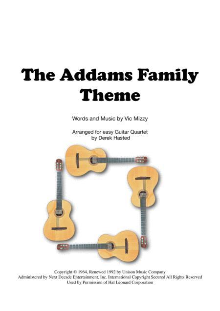 The Addams Family Theme for easy Guitar Quartet
