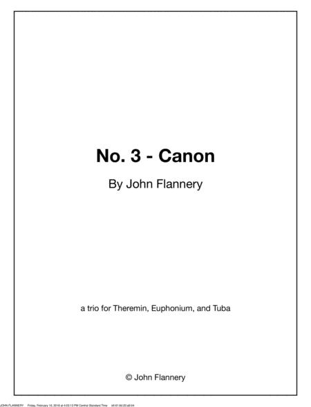 No. 3 - Canon