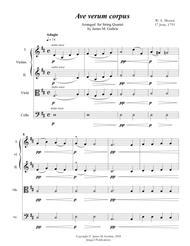 Mozart: Ave Verum Corpus for String Quartet