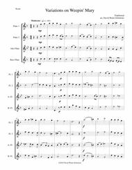 Variations on Weepin' Mary for flute quartet
