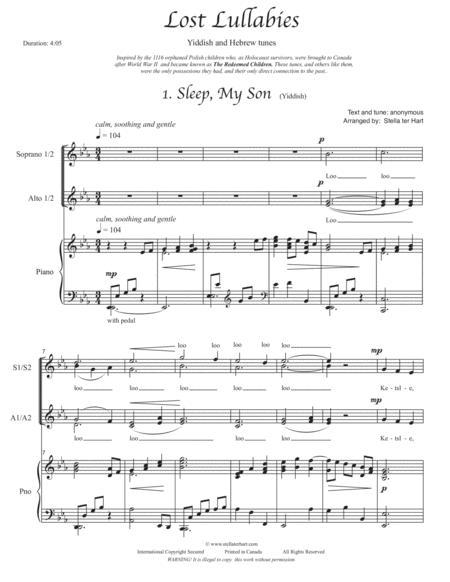 Lost Lullabies - SSAA choir with piano, Holocaust children survivors