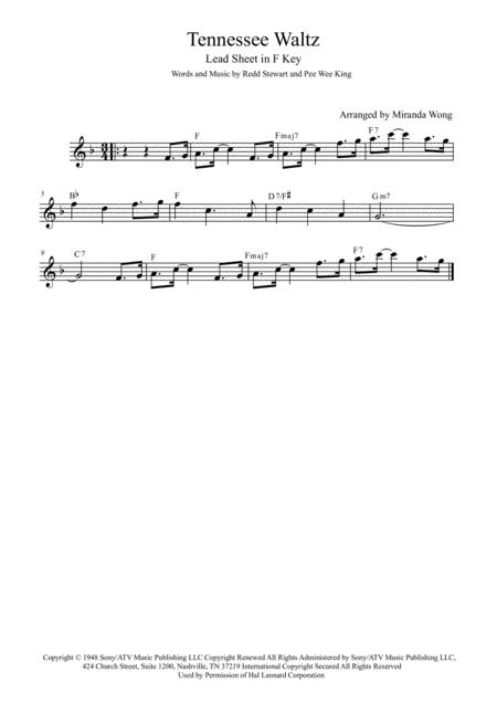 Tennessee Waltz - Flute or Oboe Solo in F Key (With Chords)