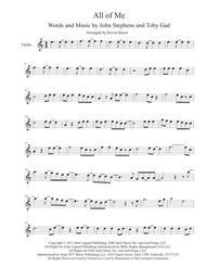 All Of Me - (Easy key of C) - Violin