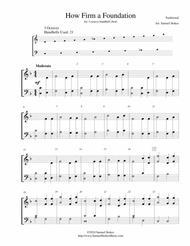 How Firm a Foundation - for 3-octave handbell choir