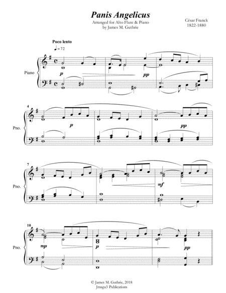 Franck: Panis Angelicus for Alto Flute & Piano