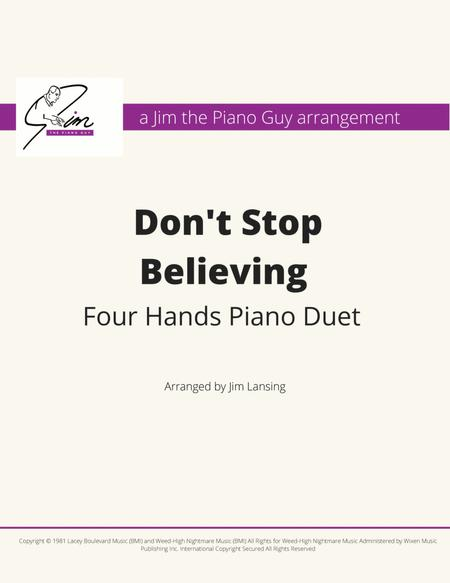 Don't Stop Believing' Piano Duet