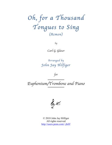 Oh, for a Thousand Tongues to Sing - Euphonium/Trombone and Piano