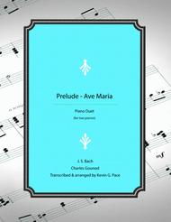 Prelude-Ave Maria for two pianos, four hands