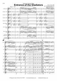 Entrance of the Gladiators (Thunder and Blazes) - Circus March - Clarinet Choir - Arrangement: Thomas H. Graf