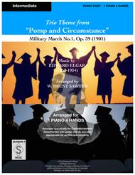 Pomp and Circumstance Theme - Elgar - Military March No. 1 - Piano Duet - 1 Piano 4 hands