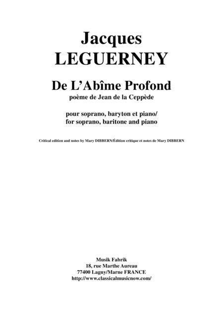 Jacques Leguerney: De L'Abîme Profond for soprano, baritone and piano