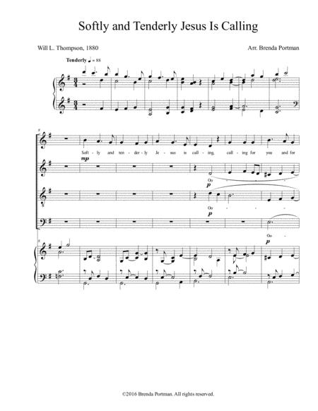 Softly and Tenderly Jesus Is Calling (SATB)