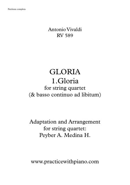 Vivaldi - RV 589, GLORIA - 1. Gloria, for string quartet