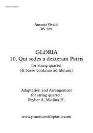 Vivaldi - RV 589, GLORIA - 10. Qui Sedes A Dexteram Patris