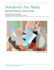 Ave Maria - Schubert - Easy Piano Duet by Teresa Cobarrubia Yoder