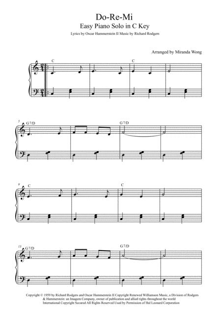 Do-Re-Mi - Easy Piano Solo in C Key (With Chords)