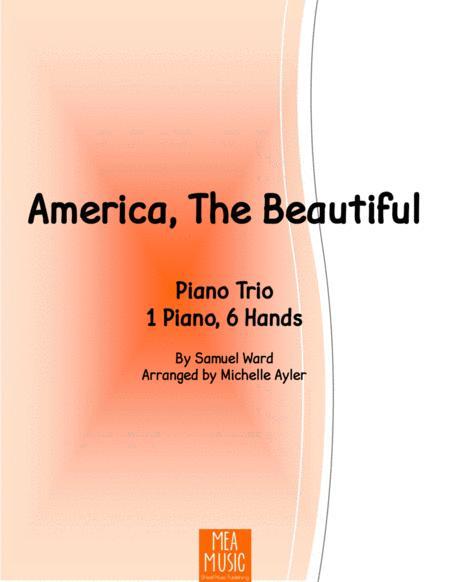 America The Beautiful Piano (1 Piano, 6 Hands)
