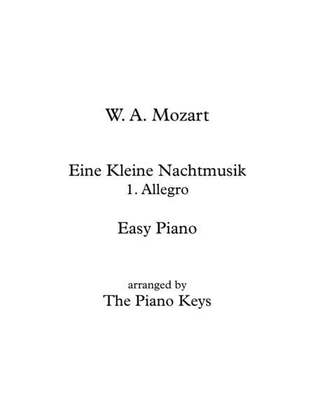 Eine Kleine Nachtmusik (Allegro) Easy Piano