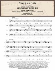Count On Me SATB a cappella, Mixed Barbershop Quartet Style