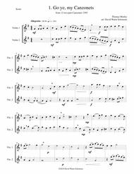 12 easy Canzonets for violin duo