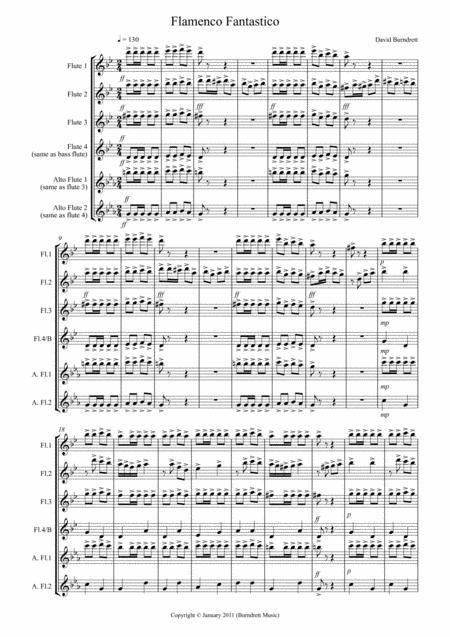 Flamenco Fantastico for Flute Quartet