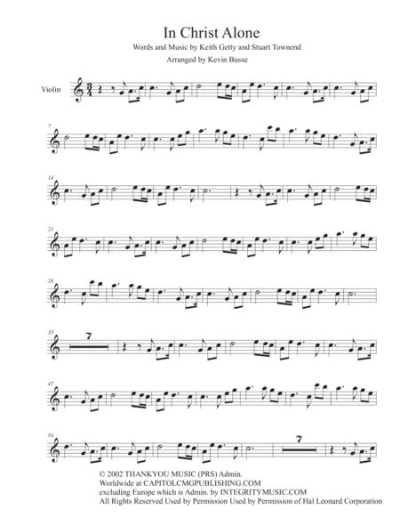 In Christ Alone - (Easy key of C) - Violin