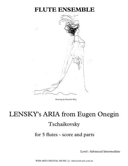 TSCHAIKOVSKY LENSKY's ARIA from Eugene Onegin  for 4 flutes