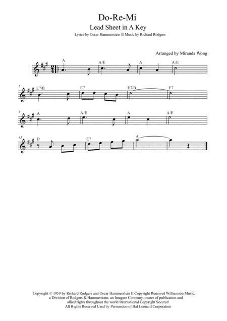 Do-Re-Mi - Alto or Baritone Saxophone Solo