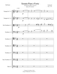 Gabrieli: Sonata Pian e Forte Ch. 175 for Brass Choir