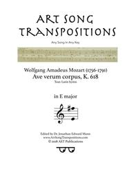 Ave verum corpus, K. 618 (E major)