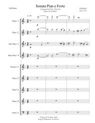 Gabrieli: Sonata Pian e Forte Ch. 175 for Flute Choir