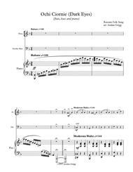 Ochi Ciornie (Dark Eyes) (flute, bass and piano)