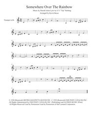 Download Somewhere Over The Rainbow Easy Key Of C Trumpet Sheet
