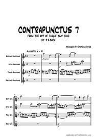 'Contrapunctus 7' By J.S.Bach BWV 1080 from 'The Art of the Fugue' for Saxophone Quartet.