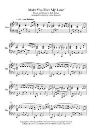 Make You Feel My Love - Pedal Harp Solo