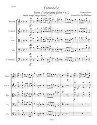 Farandole From L'Arlesienne Suite No. 2 by Bizet for String Orchestra