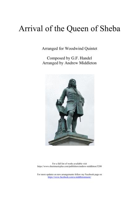 Arrival of the Queen of Sheba for Woodwind Quintet
