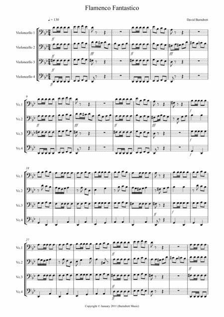 Flamenco Fantastico for Cello Quartet