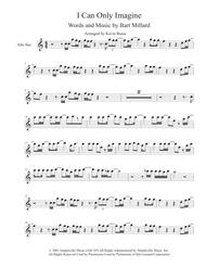 I Can Only Imagine (Easy key of C) - Alto Saxophone